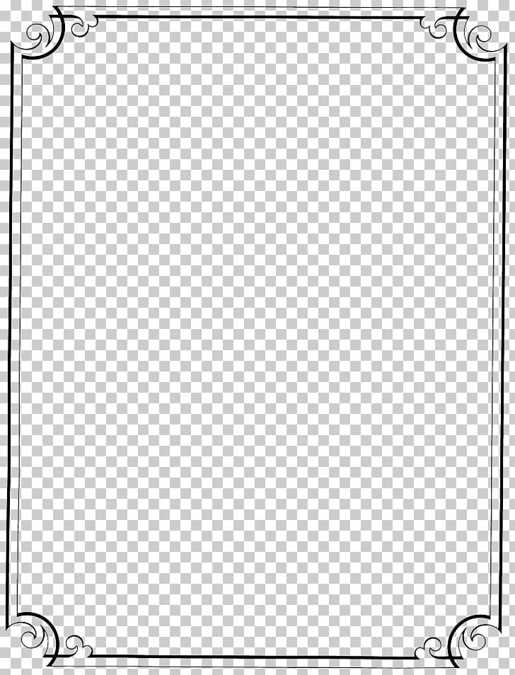 Pattern, Vintage Border Frame File, gray and black frame PNG.