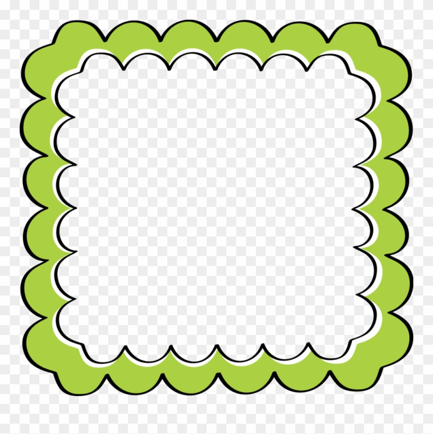 Green Border Frame Png File.
