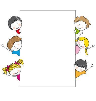 Kids frame vector 624055.