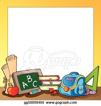 School Picture Frame Clip Art.
