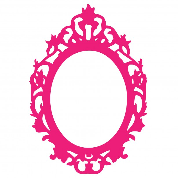 Pink Baroque Frame Clipart.