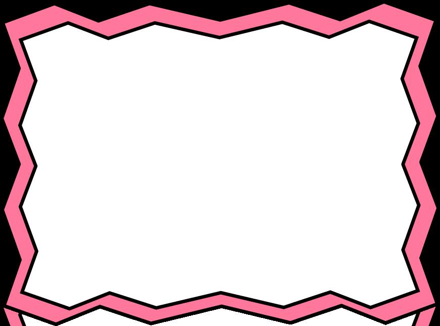 Pink Flower Border Clip Art.