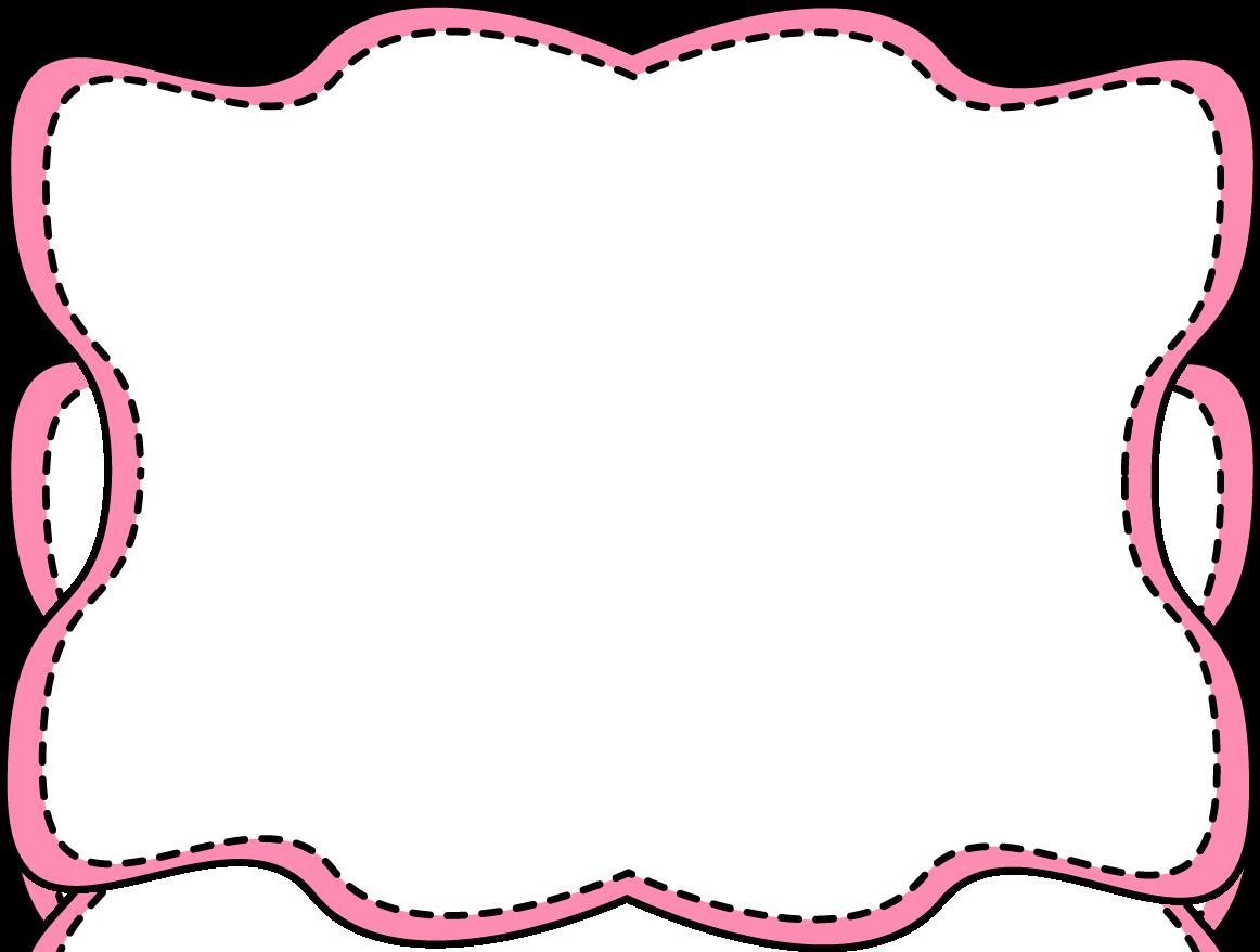 Pink Wavy Stitched Frame.