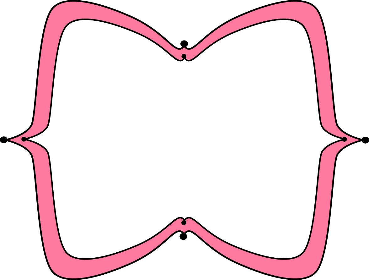 Pink Wide Pointy Frame.