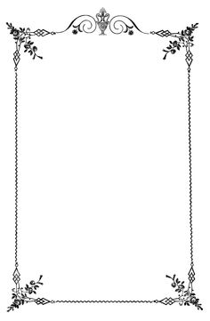 Printable floral border. Use the border in Microsoft Word or other.