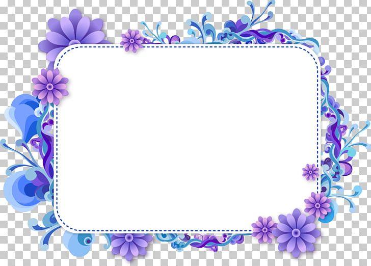 Frames Floral Design PNG, Clipart, Art, Blue, Blue Flower, Border.
