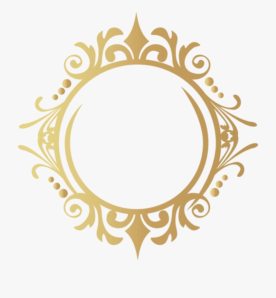 Designer Gold Frame Services Design Interior Clipart.