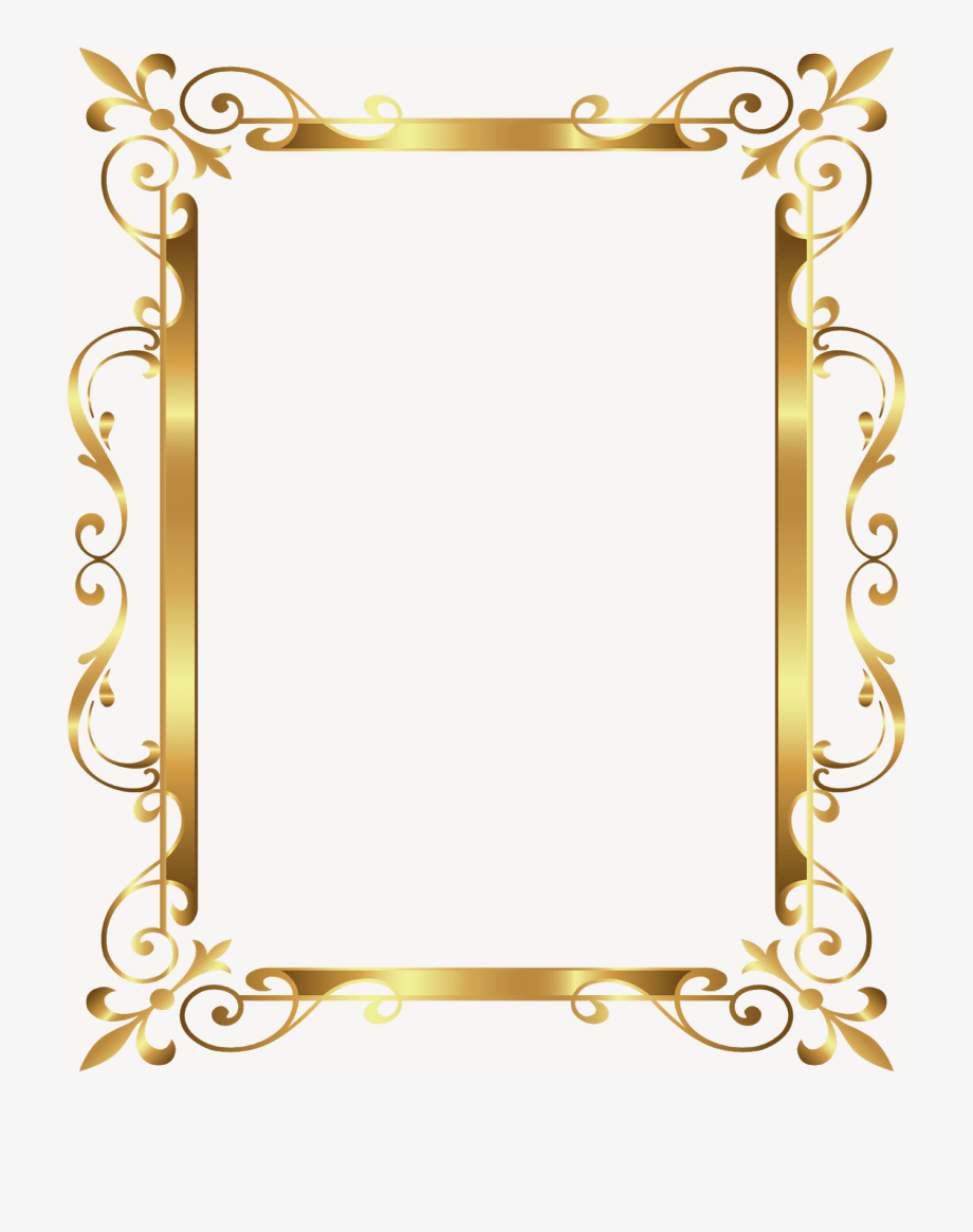 Gold Frame, Picture Frame.