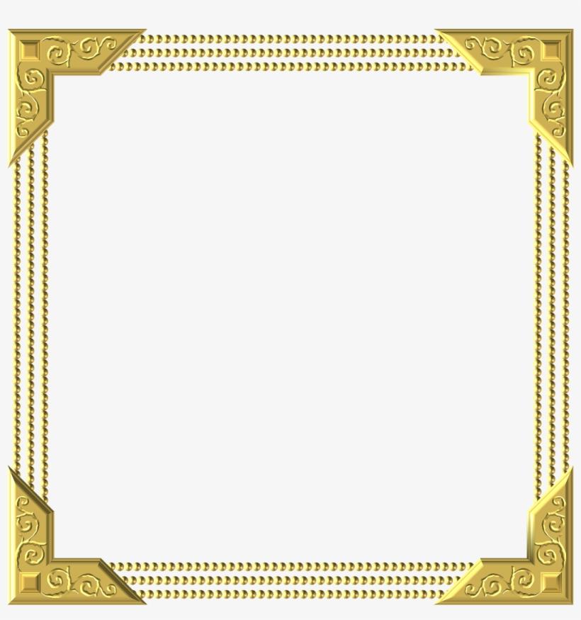 Frame Royal Gold Square Embellishment.