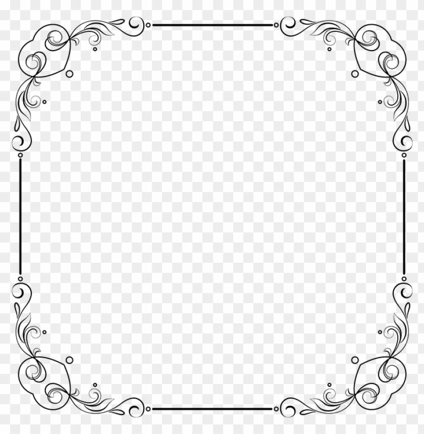 white border frame png.