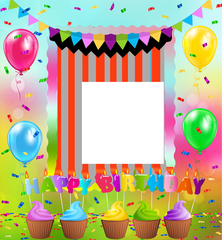 Happy Birthday PNG Frame.