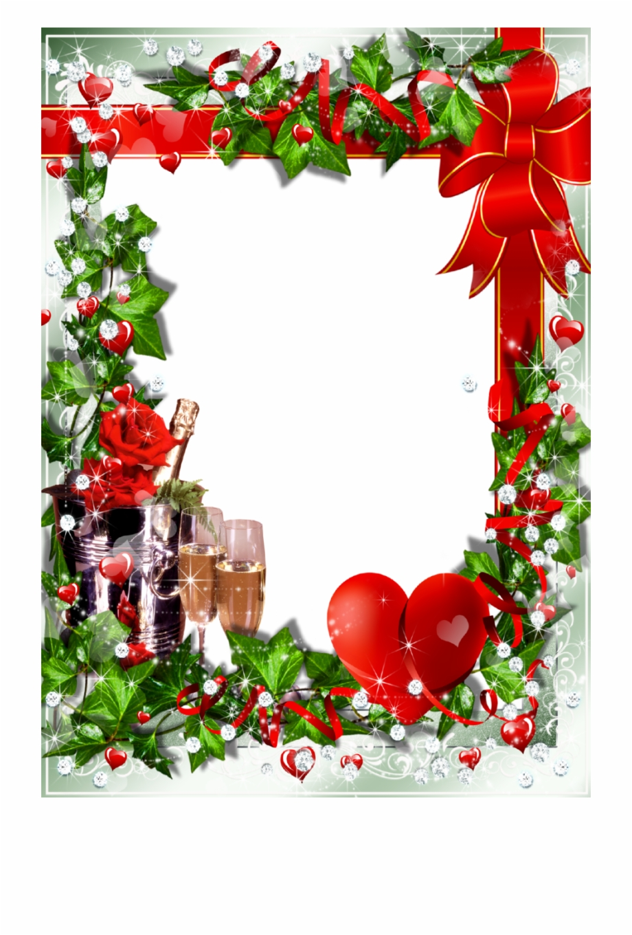 Christmas Lights Border Transparent Download Christmas Frame.