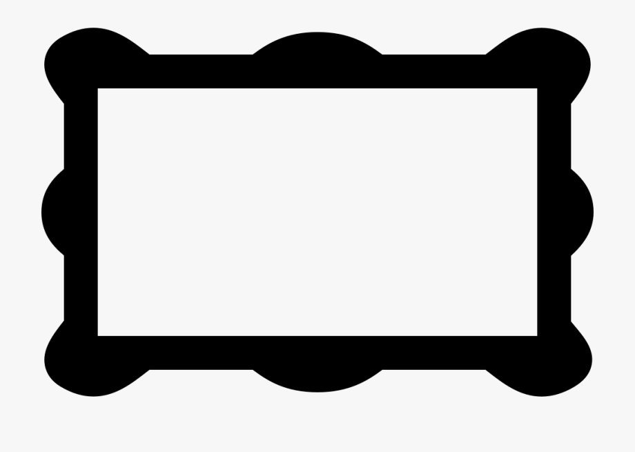 Rectangular Frame With Rounded Corners Svg Png Icon.