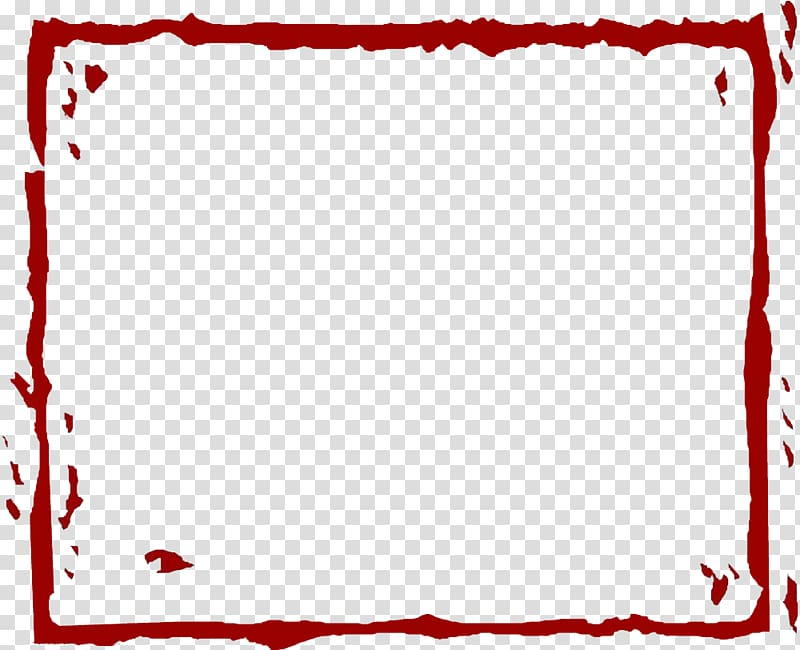 Square red frame illustration, Red, Red Line border.