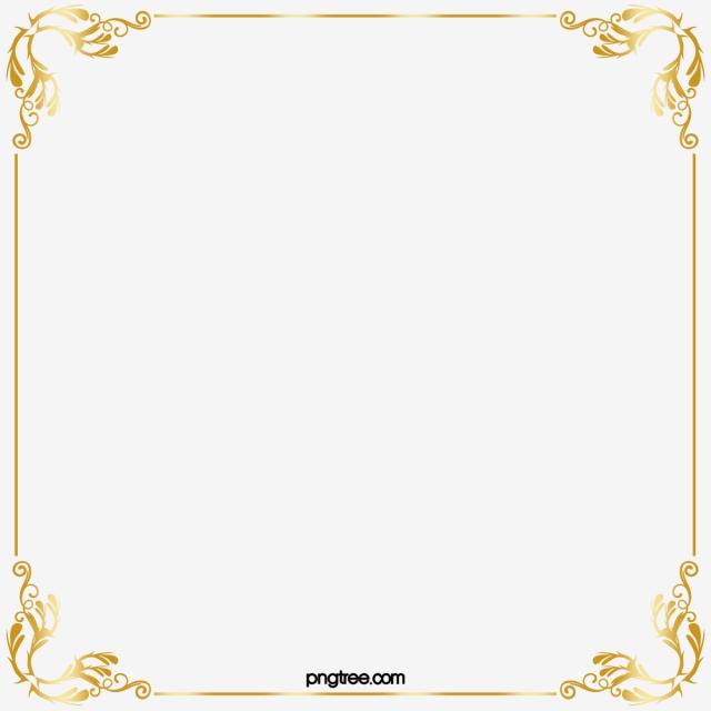 Golden Border, Gold, Line, Frame PNG Transparent Clipart Image and.