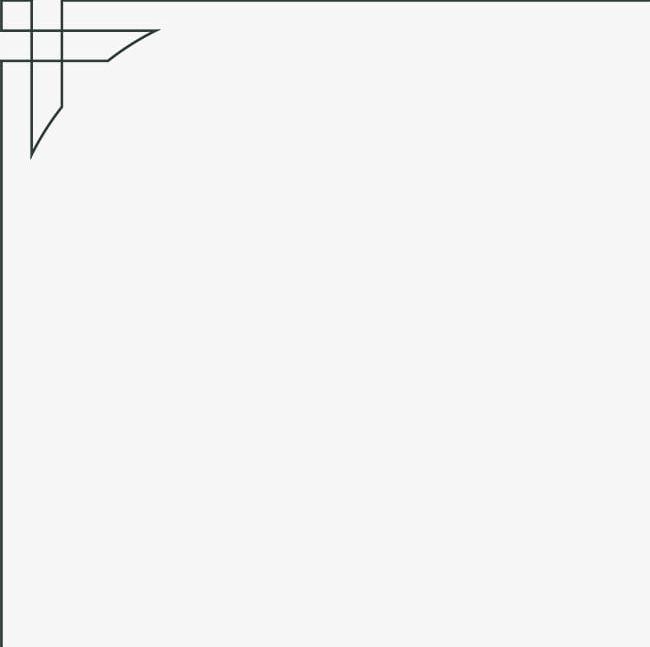 Black Simple Line Frame PNG, Clipart, Black, Black Clipart, Border.