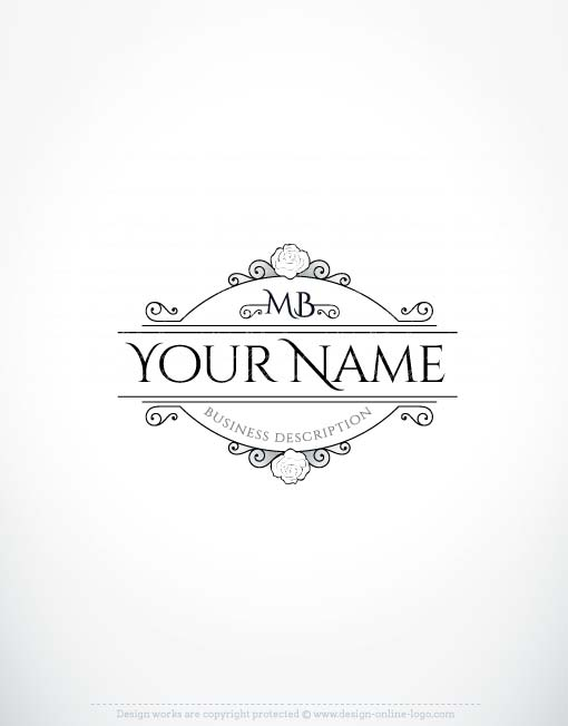 Exclusive Design: Vintage Rose logo + FREE Business Card.