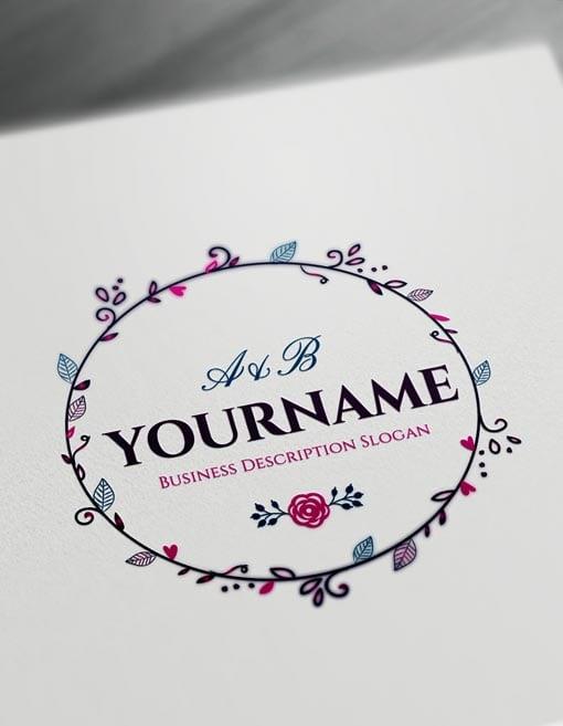 Online Floral Frame Logo Free Vintage Logo Maker.