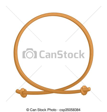 Vector of Rope loop frame. Rope rope circle with sites csp35058384.