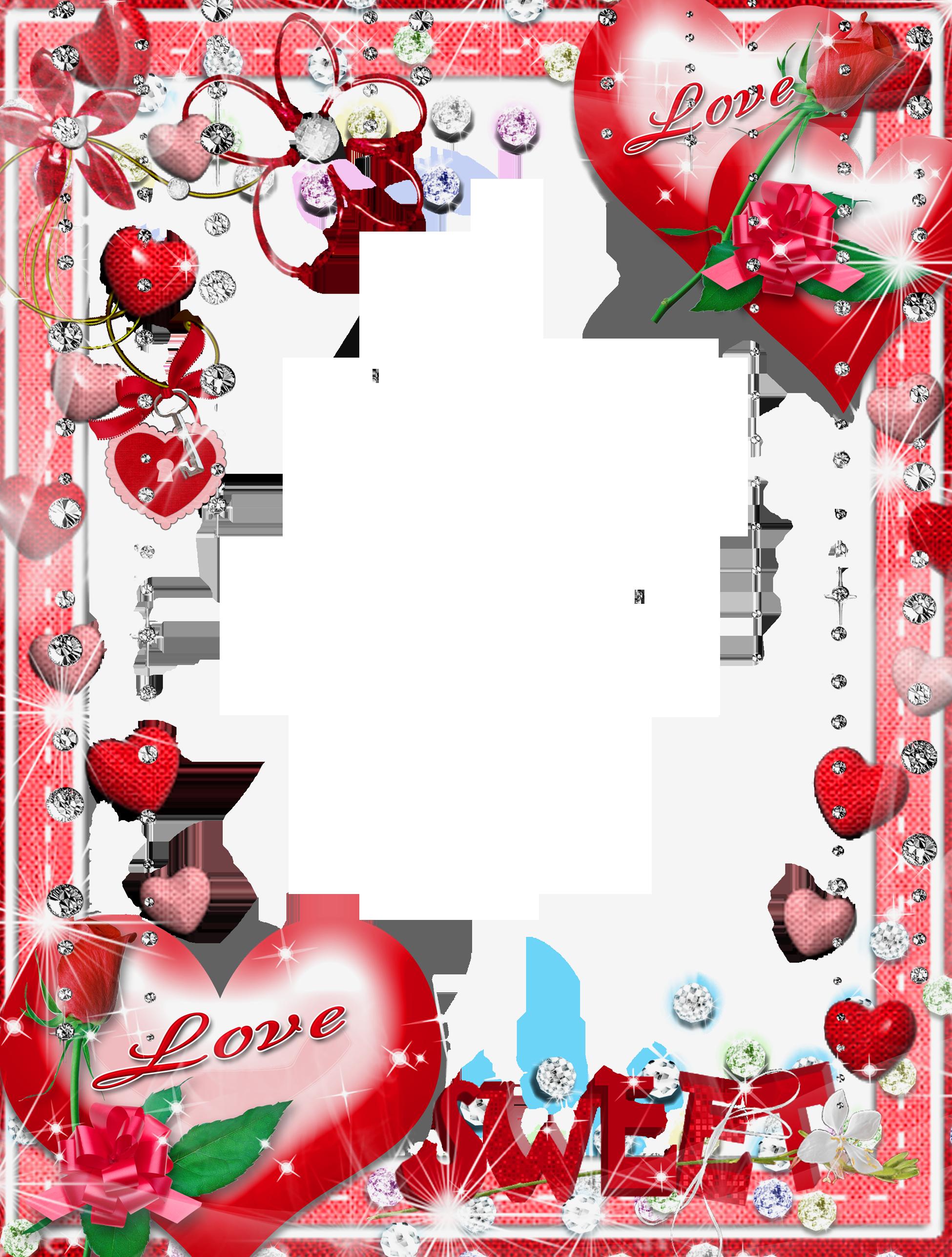 Sweet Love Transparent PNG Photo Frame.