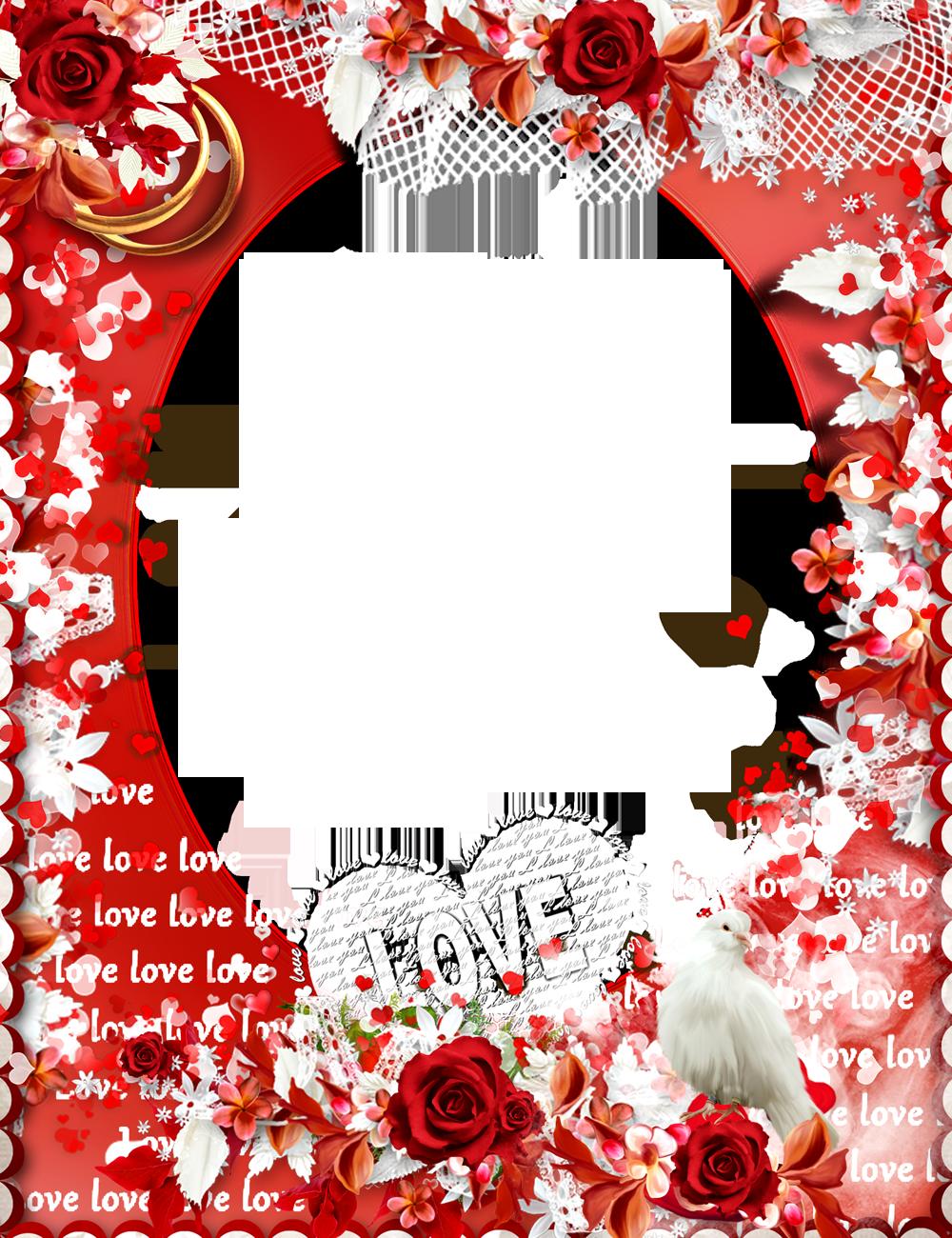 Love Frame PNG Transparent Images.