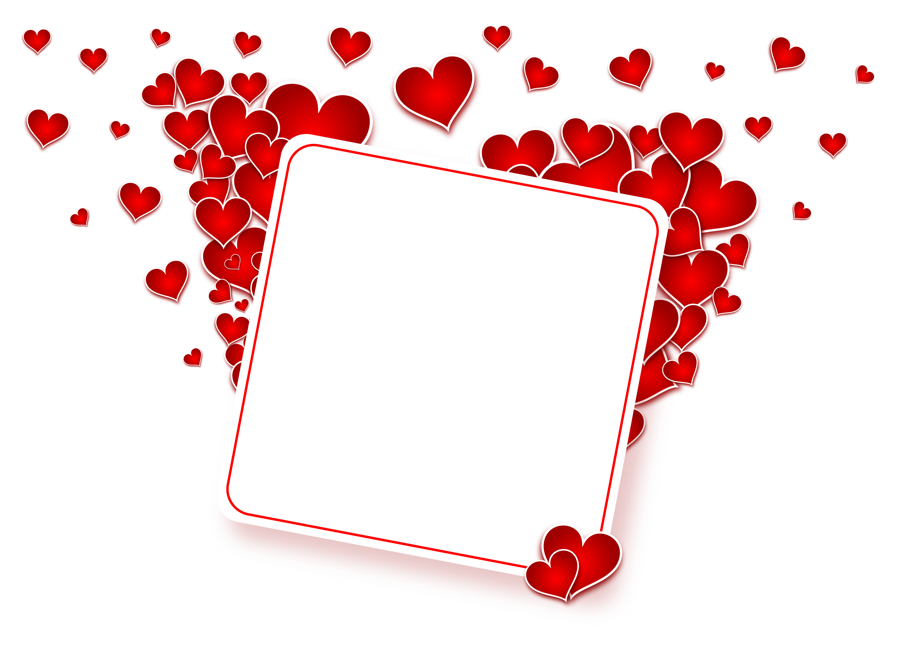 Love Heart Frame PNG Image.