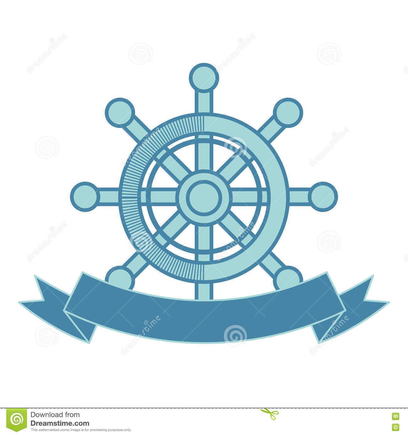 Ship Timon Maritime Frame Stock Vector.
