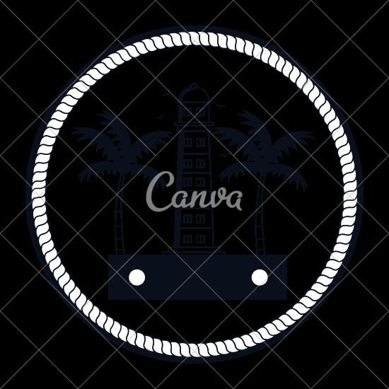 Lighthouse Maritime Frame Icon.