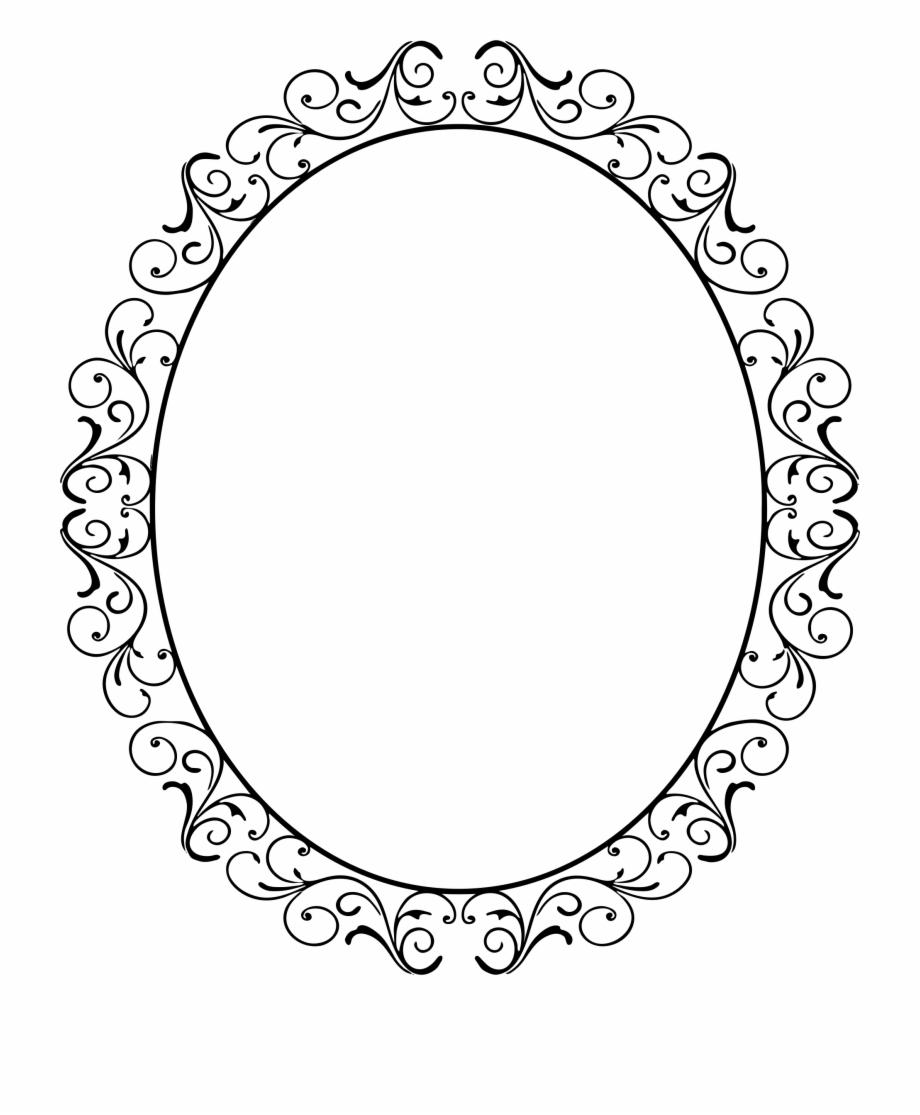 Oval Clipart Swirl.