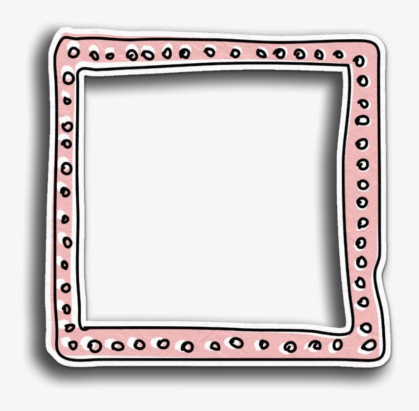 Frame Border Peach Pink Pastel Overlay Scrapbook.