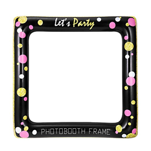 Details about LUOEM Inflatable Frame Selfie Photo Booth Props Party  Birthday Bridal Shower.