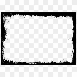 Grunge Frame PNG Transparent For Free Download.