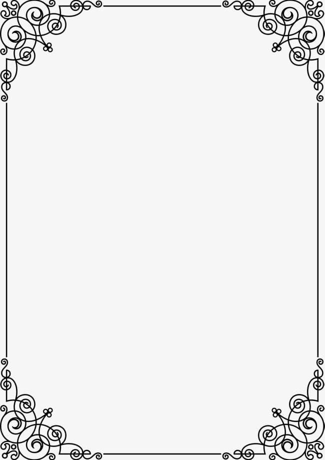 Black Line Frame PNG, Clipart, Black, Black Clipart, Border, Border.