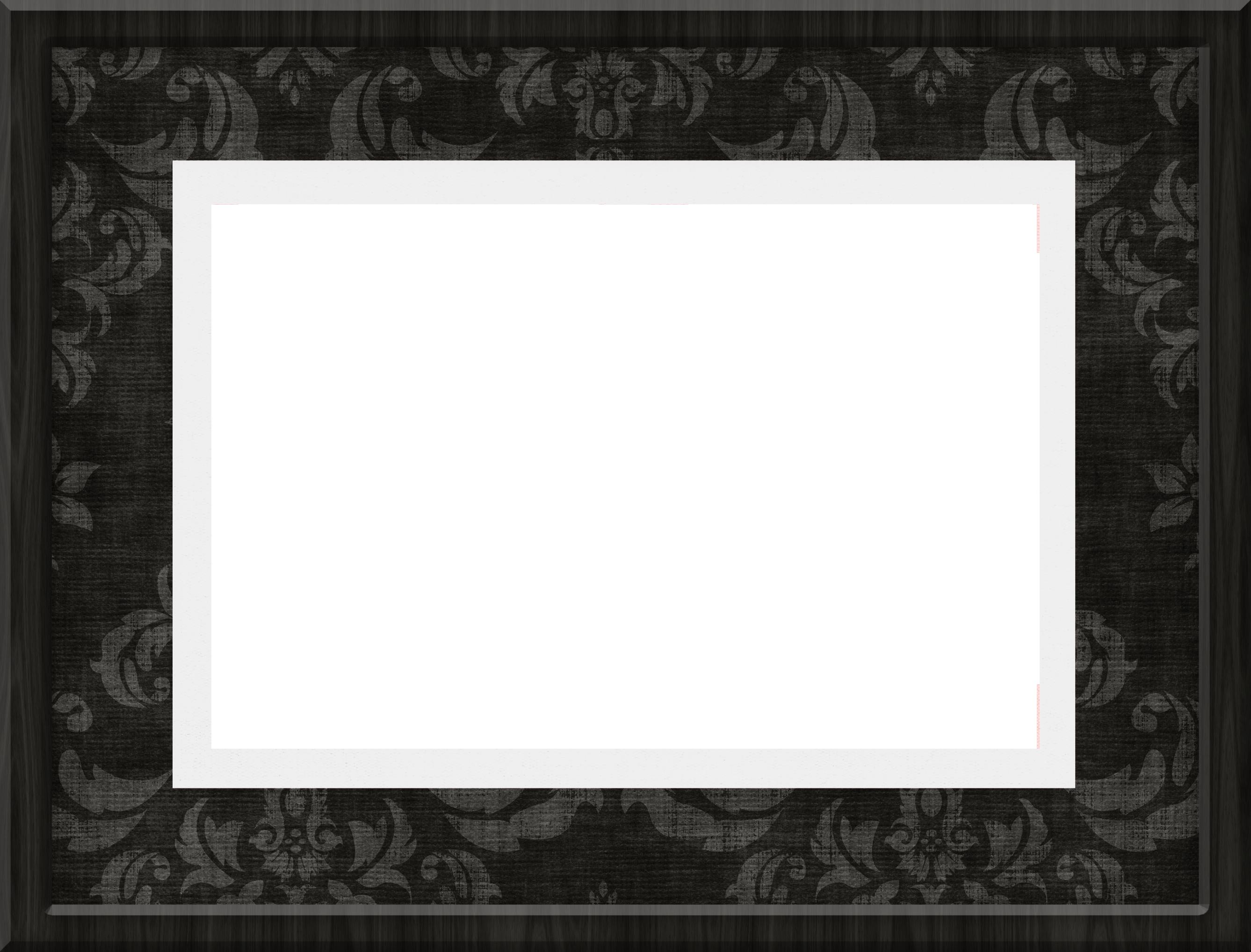 Black Transparent PNG Frame.