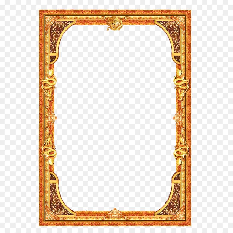 Frame Gold Frame png download.