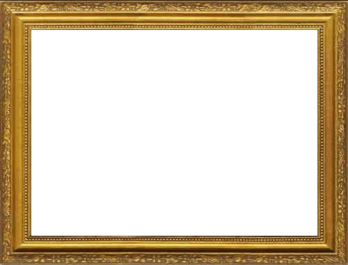 Gold Frame PNG Transparent Image.