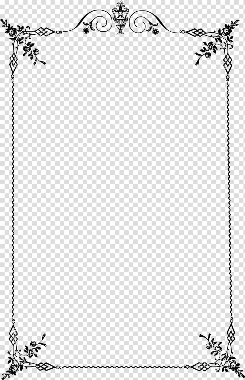 Borders and Frames Classic , Elegant frame transparent.