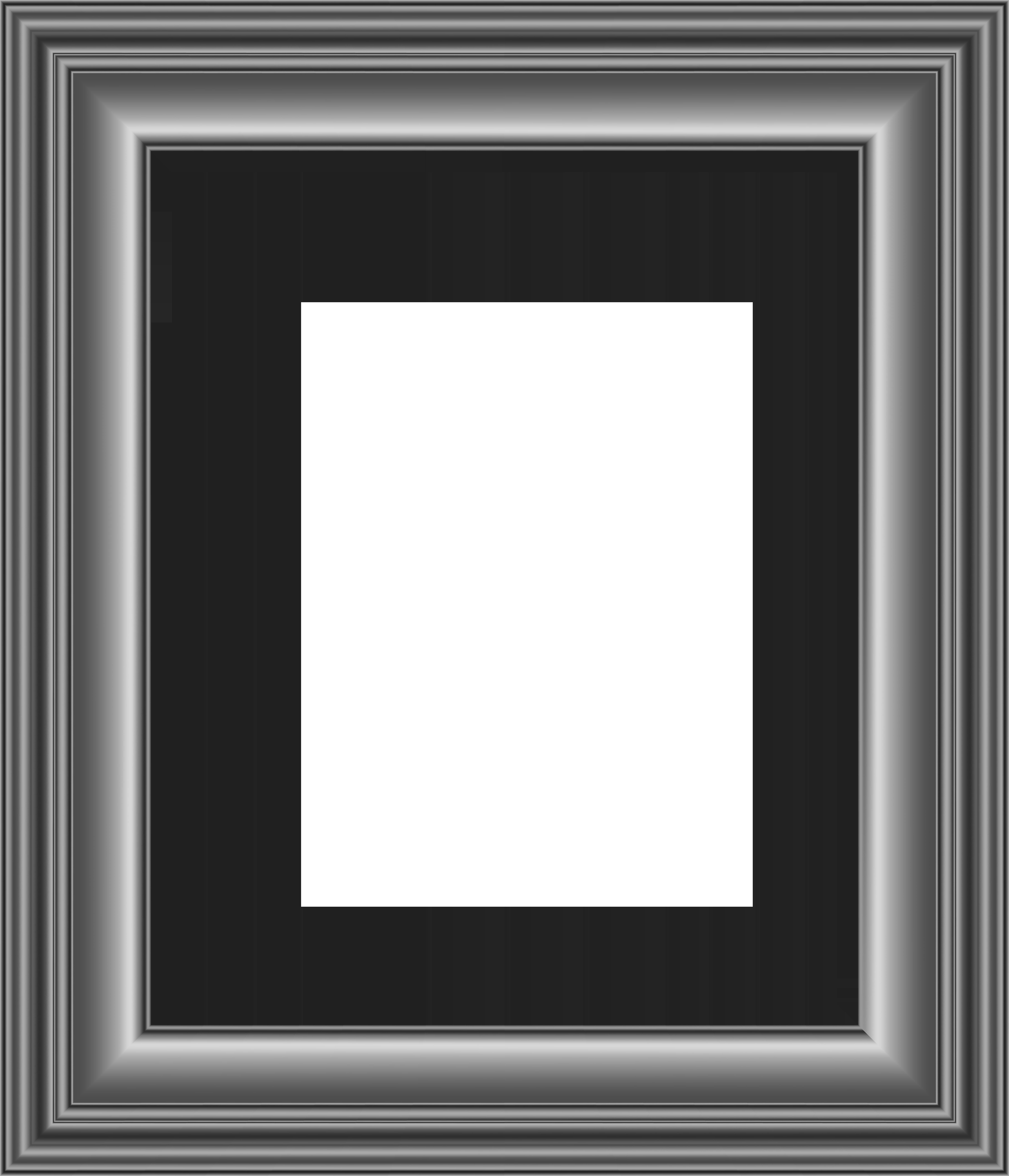 Grey Frame Transparent PNG Image.