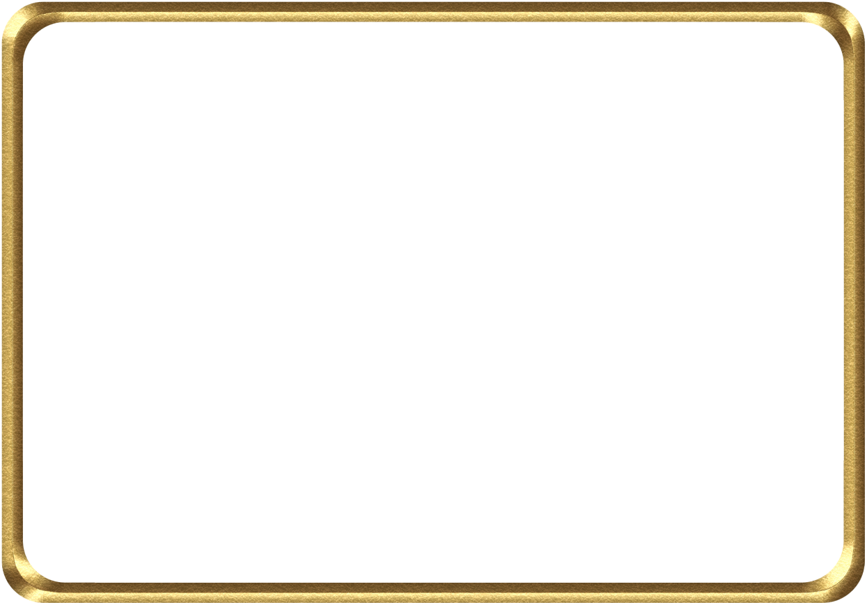 Golden Frame Download Transparent PNG Image.