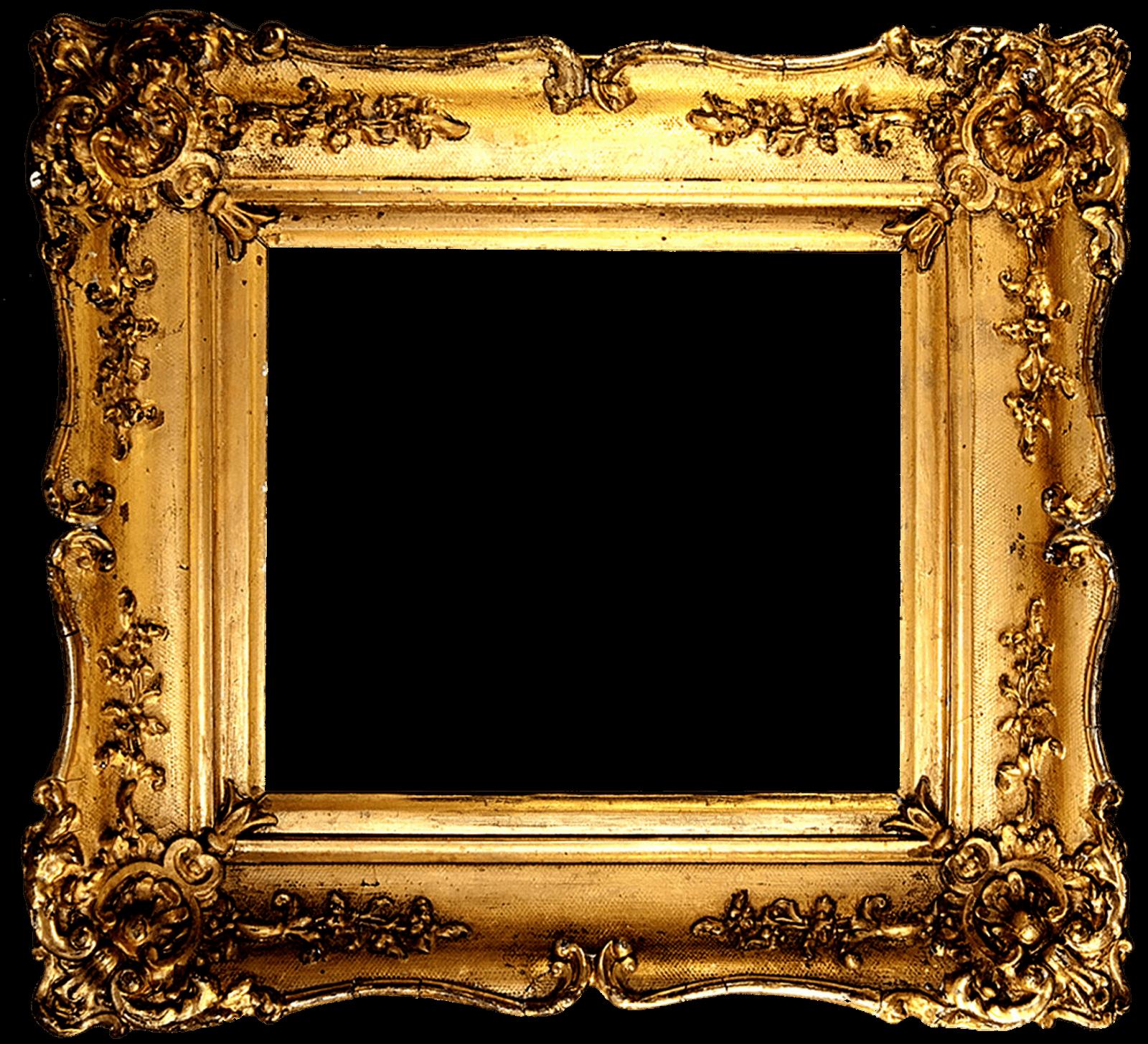 Vintage Gold Frame Transparent Png.