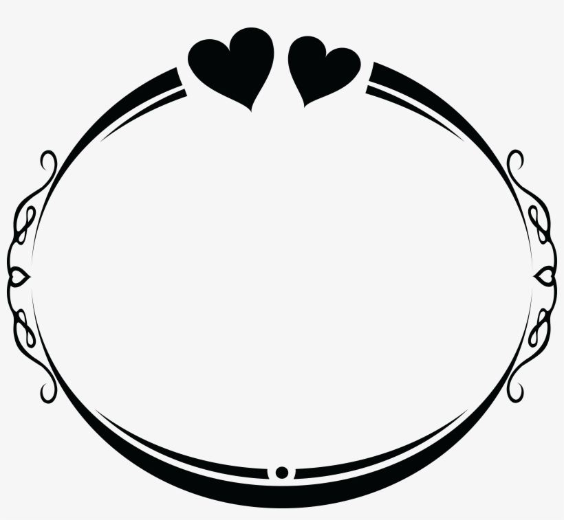 Free Clipart Of An Oval Wedding Frame Design With Love.