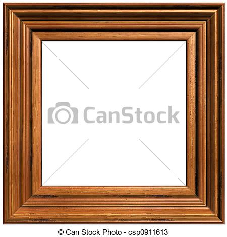 Wooden picture frame clipart.