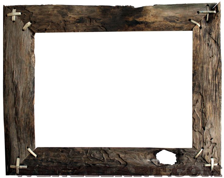 Old wood frame clipart.