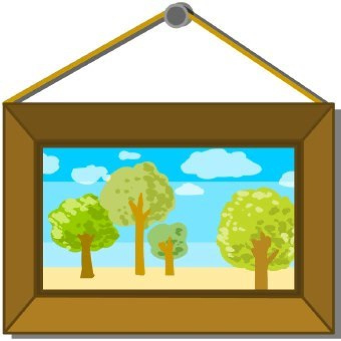 Framed Painting Clipart.