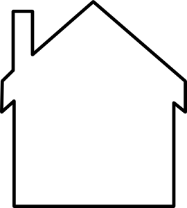 Framed Out House Clipart.