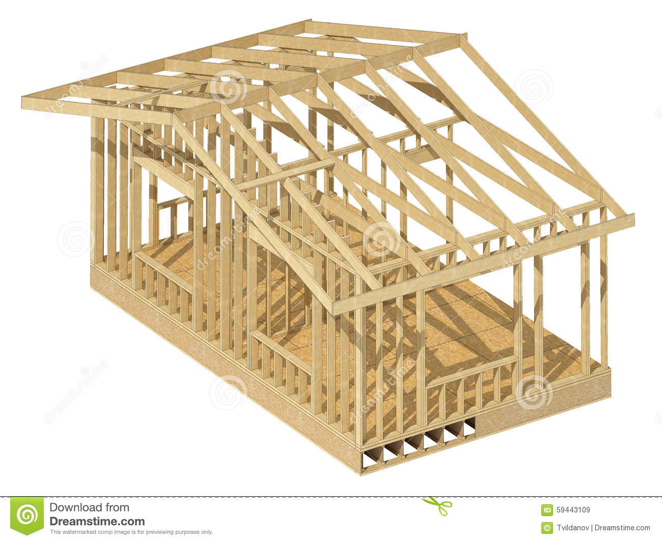 Wood Frame Construction ~ Framed house clipart clipground