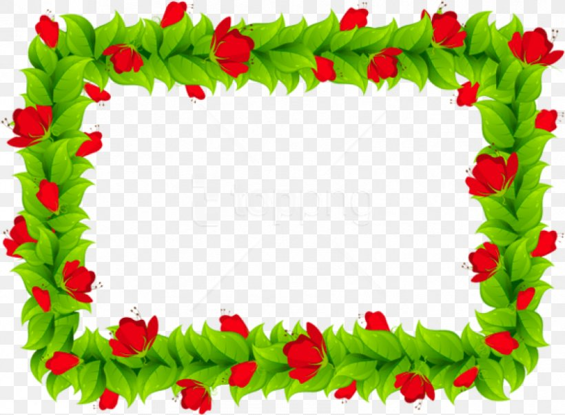 Borders And Frames Floral Design Picture Frames Clip Art.
