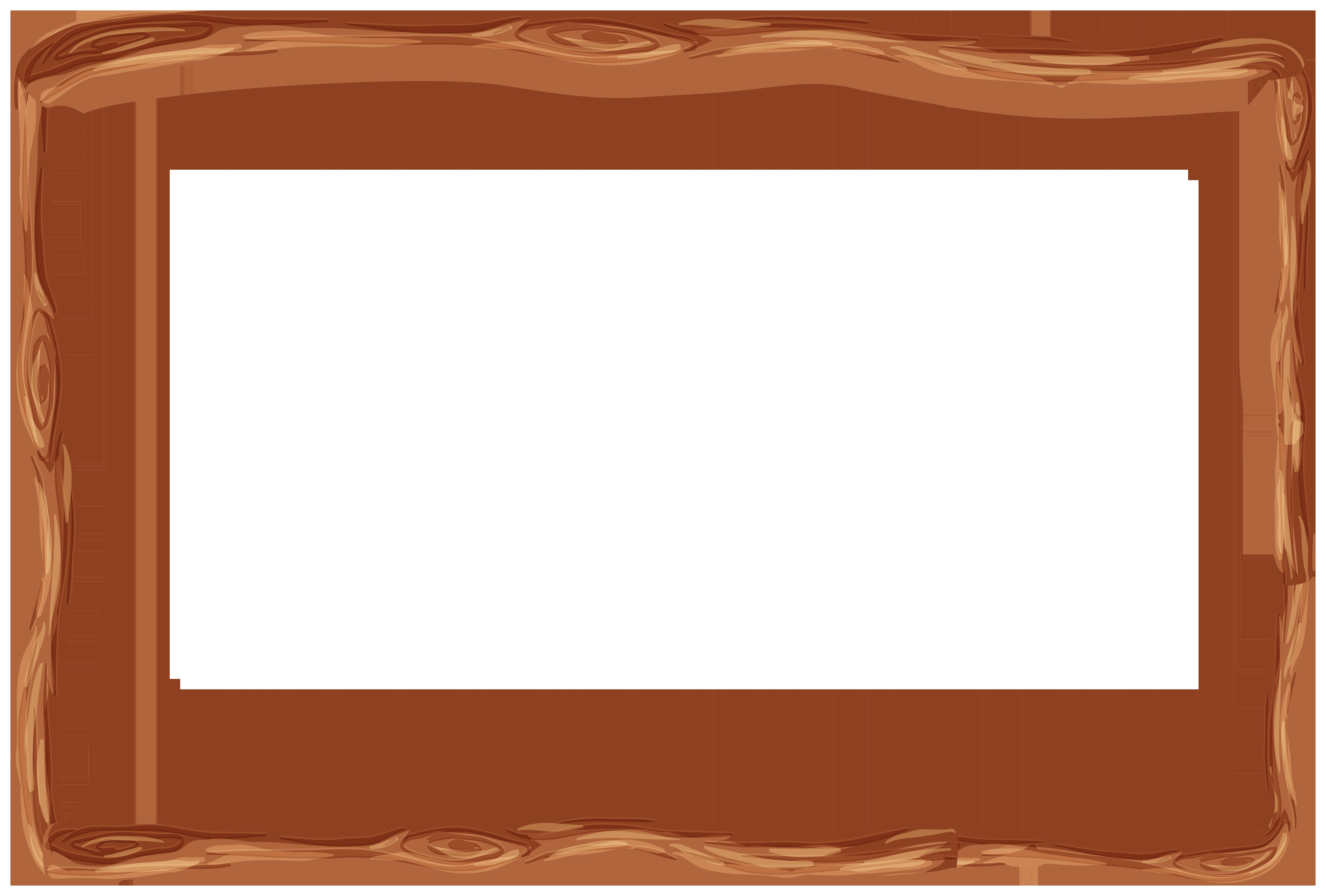 Wooden Frame Border PNG Clipart.