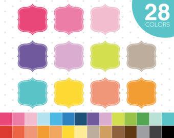 ON SALE clipart color frames ,Classic square digital clip art.