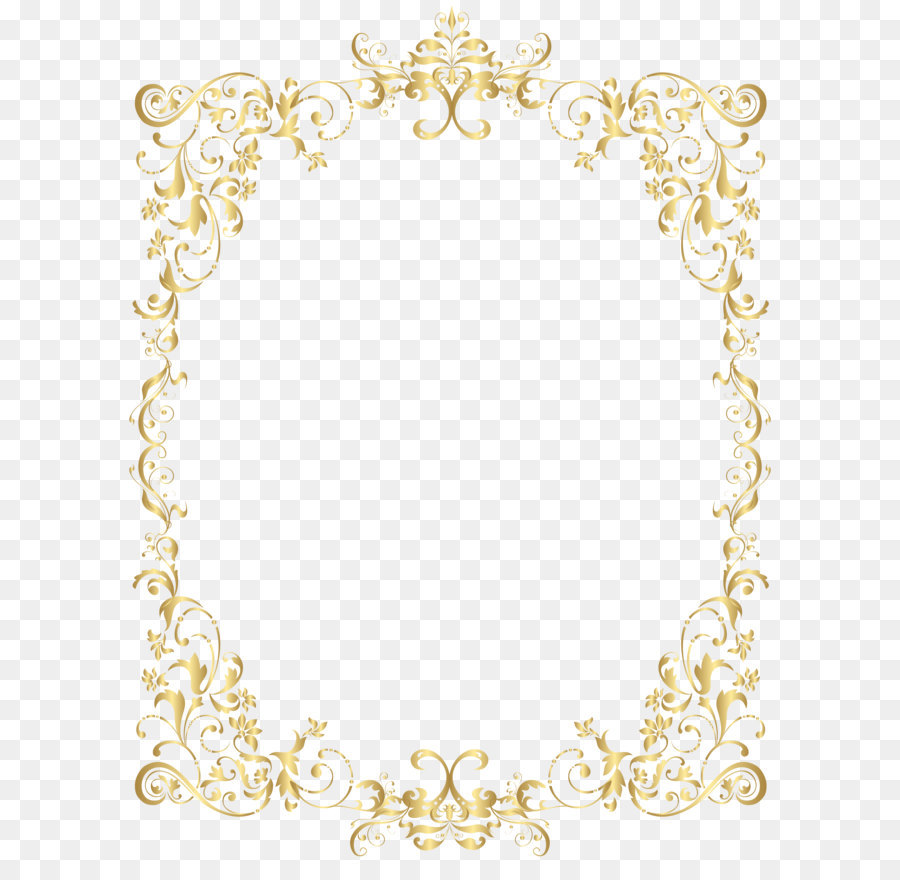 Gold Frame Png Clipart.